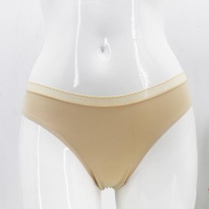 Solid Pattern Beach Wear Underwear - Apricot