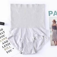 Stretchable Hipster High Waist Underwear - Gray