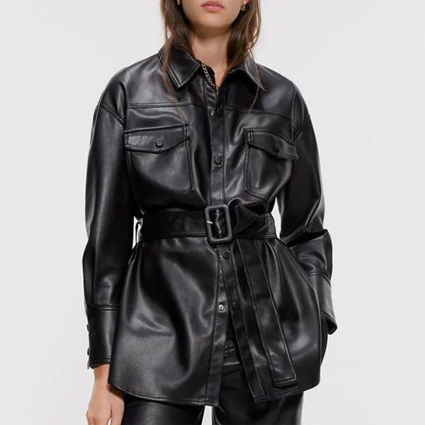Clever Faux Fur Elegant Drawstring Pockets Coats - Black