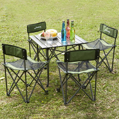 Foldable Creative Outdoor Chair And Table - Five Pieces Set
