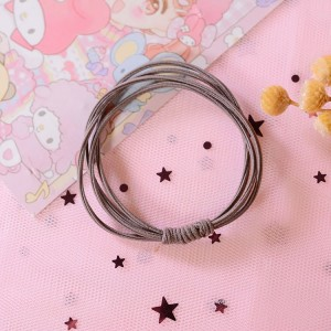 Head Rope Hair Holster Girl Rubber Bands - Coffee