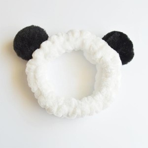 Head Rope Hair Holster Flannel Sweet Ball Bands - Black Ears