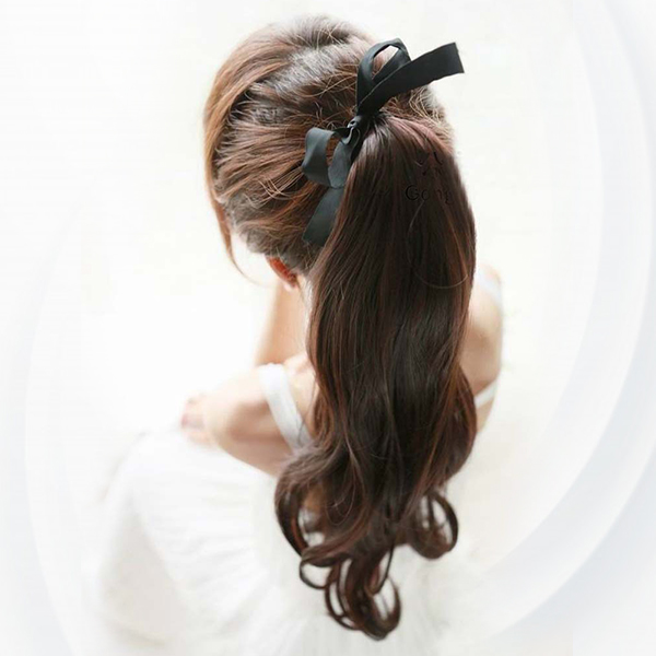 Curve Ends Long Straight Waves Fake Hairs Wigs - Dark Brawn