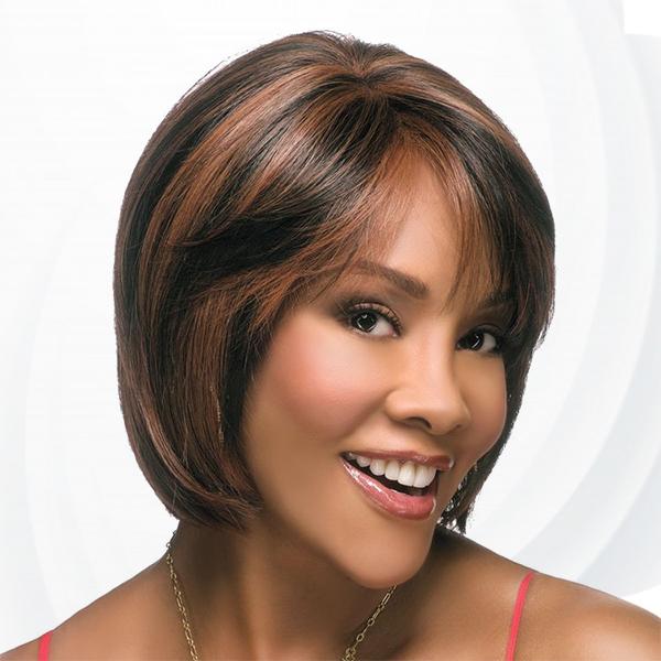 Short Straight Womens Fake Hairs Wigs - Black Brawn