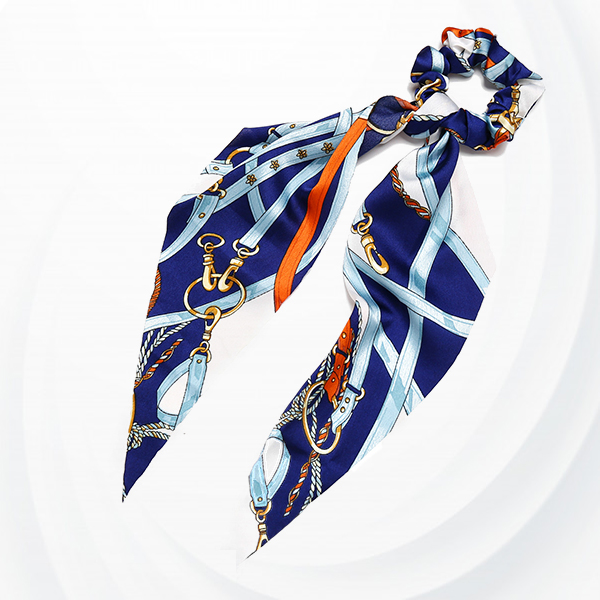 Bow Streamers Hair Ribbon Bands Fabric-covered Tie - Blue