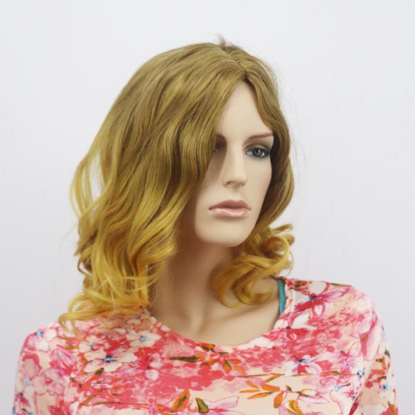 Curly Short Modern Style Women Hair Wigs - Light Brown