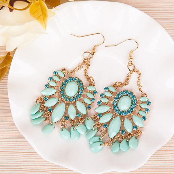Bohemian Chain Tassel Beads Earrings