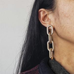 Bohemian Punk Hollow Geometric Best Hoops Earring - Golden
