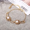 Pearl Decorated Casual Wear Gold Plated Bracelet