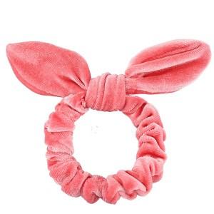 Solid Elastic Sweet Hairs Velvet Ladies Hair Bands - Pink