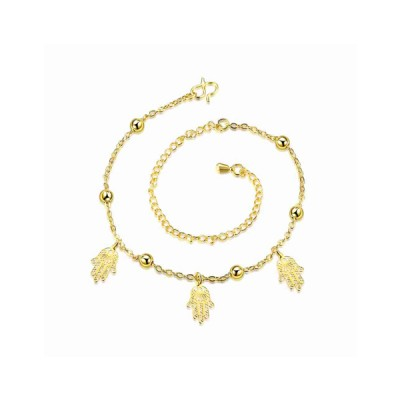 Small Hand Golden Beads Anklet Foot Jewelry For Women