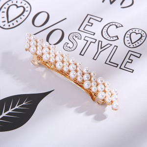Vintage Fashion Golden Fancy Hair Clips - Pearls