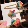 Colorful Patched Women Casual Wear Hair Clips - Heart