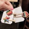 Colorful Patched Women Casual Wear Hair Clips - Star