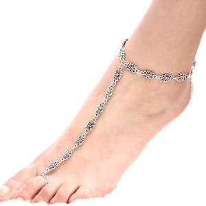 Women Hollow Out Pattern Chain Anklet Barefoot Jewelry