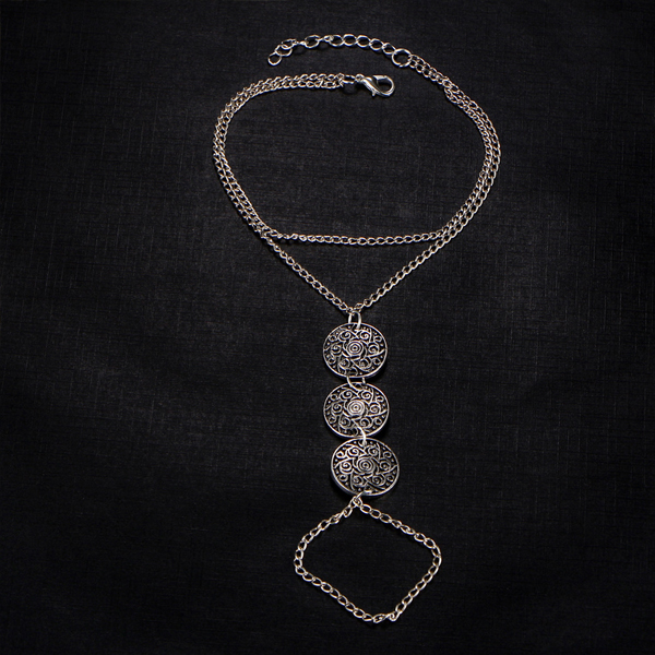 Vintage Multiple Layered Old Coins Anklets For Women