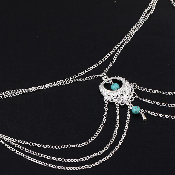 Multiple Layered Luxurious Gemstone Anklet For Women