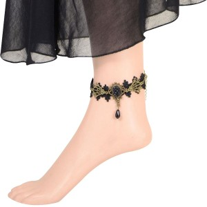 Vintage Lace Luxury Anklet Handmade Jewelry For Women
