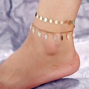 Gold Plated Tassel Pendant Anklet
