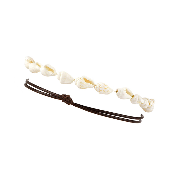Thread Special Art Sea Shell Anklet