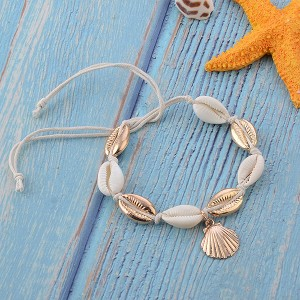 Pearl Sea Shell Decorated Anklet