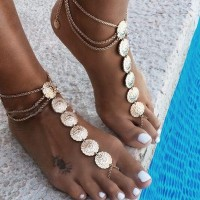 Chain Bohemian Silver Plated Chain Anklet - Golden