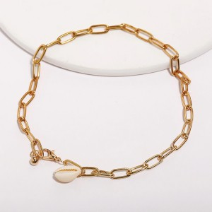 Gold Plated Shell Patched Casual Bracelets