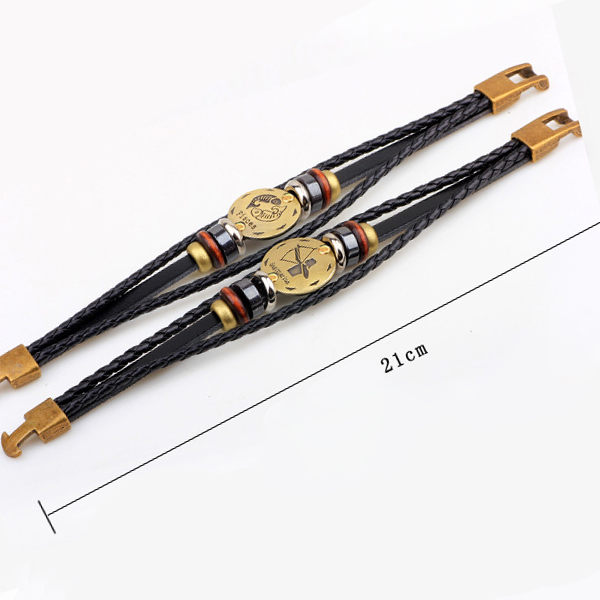 Horoscope Stylish Leather Strappy Unisex Bracelet - Leo