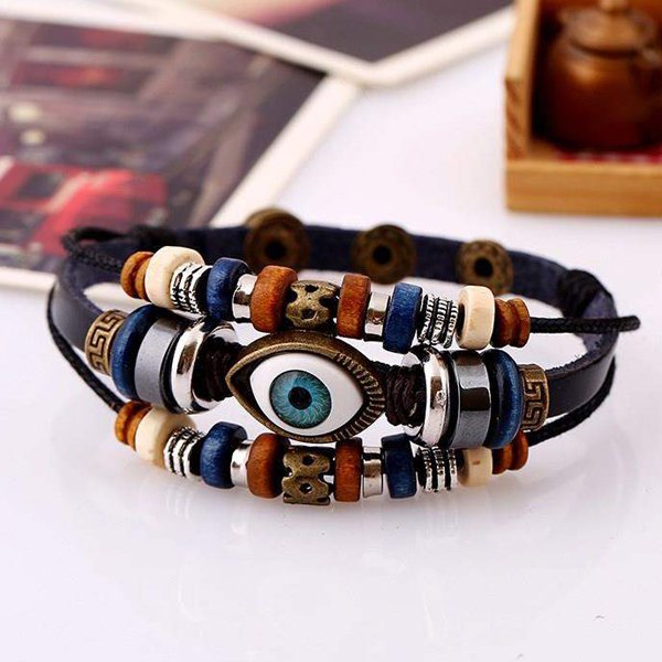 Eye Patch Multilayer Beads Decorated Bracelet