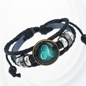 Shiny Unisex Zodiac Sign Horoscope Bracelet - Leo