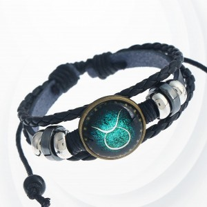 Shiny Unisex Zodiac Sign Horoscope Bracelet - Taurus