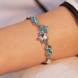 Rhinestone Crystal Stars Decoration Bracelets