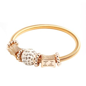 Zircon Alloy Charm Bracelet Bangles For Women
