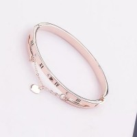 Chain Crystal Heart Buckle Closure Bracelet - Rose Golden