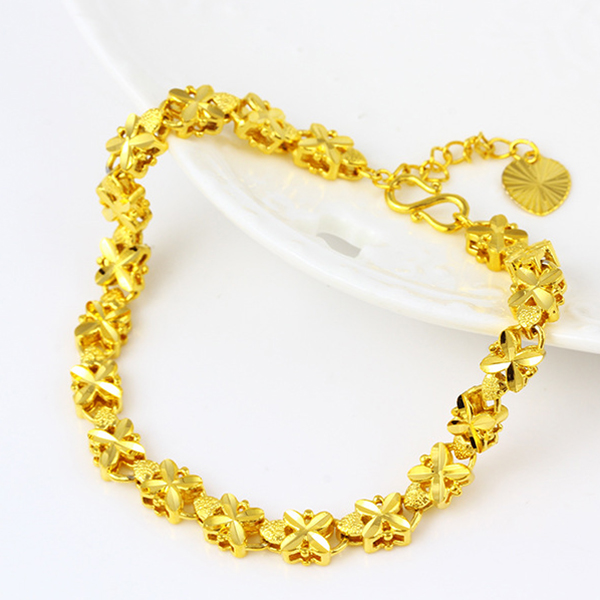 Gold Plated Bohemian Chain Casual Bracelet - Golden