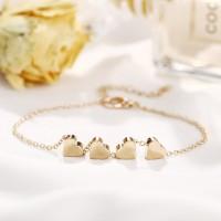 Hearts Decorative Gold Plated Fashion Bracelet