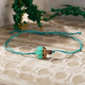 Thread Geometric Shaped Rope Bracelet - Cactus