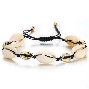 Stones Decorated Casual Boho Bracelet - Golden Beads