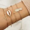 Silver Plated Chain Bracelets Set