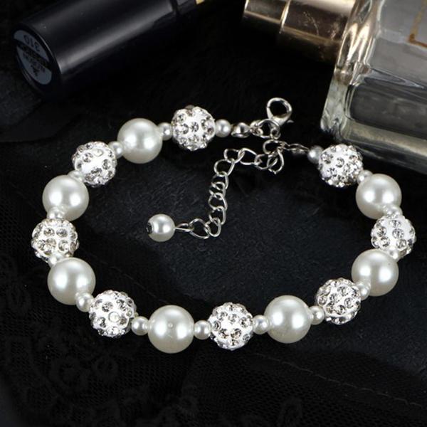 Pearl Crystal Wedding Special Women Gifts Bracelets