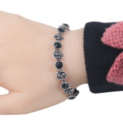 High Quality New Fashion Alloy Plating Bracelet For Ladies Black
