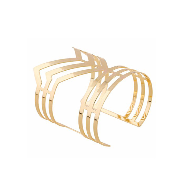 European Style Irregular Geometric Unique Unisex Iron Bracelet