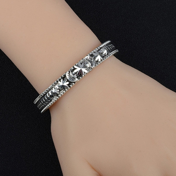 Engraved Bohemian Casual Wear Bangle Bracelet