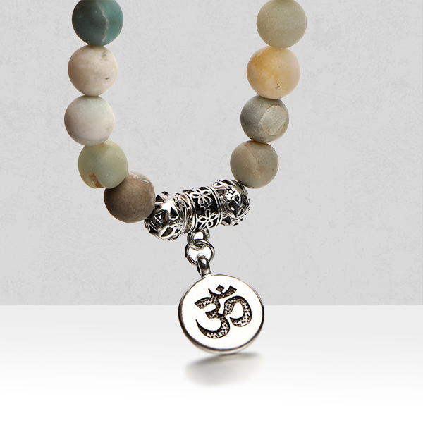 Religious Coin Multicolor Beads Bracelet