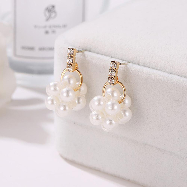Fashion Trendy Pearl Jewellery Ear Tops
