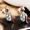 Party Design Alloy Plated Fashionable Crystal Earrings Golden