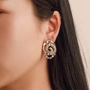 Floral Engraved Carved Casual Party Ear Tops