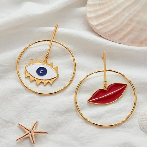 Creative Large Size Casual Ear Rings Pair
