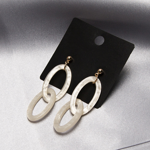 Spiral Textured Party Wear Vintage Earrings - Silver