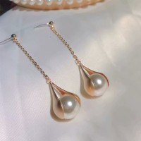 Pearl Patched Party Wear Gold Plated Earrings